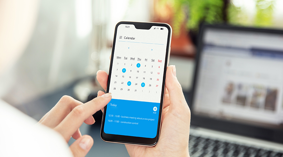creating a schedule in phone