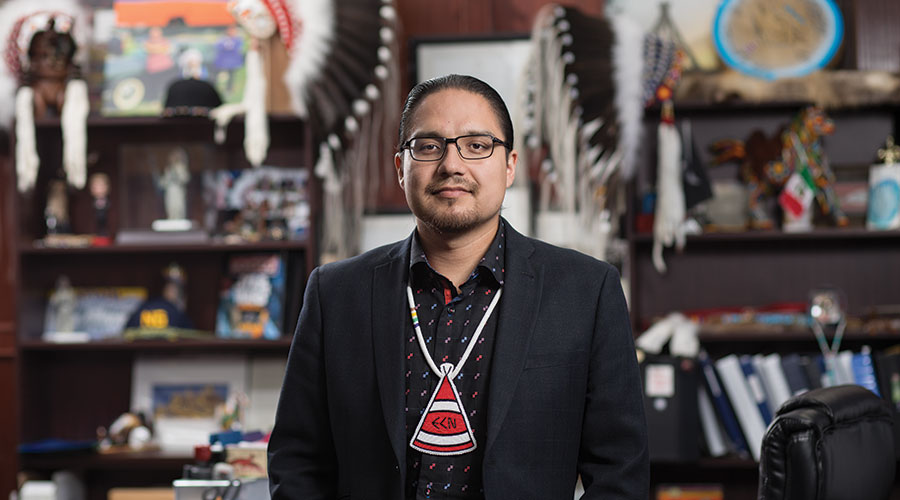 billy morin, nait grad, chief of enoch cree nation