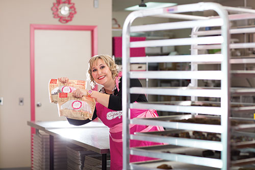 kathy leskow, owner, confetti sweets
